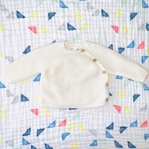 ZARA 100% cotton sweater 💚 newborn